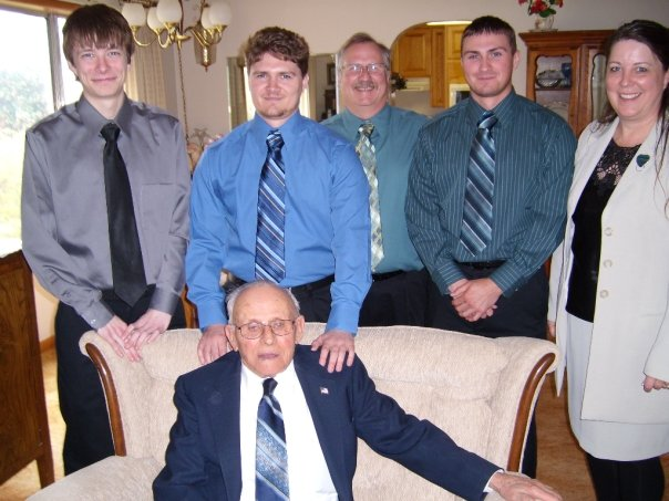 April 2008, after attending my grandmother's funeral. I am standing above my grandfather.