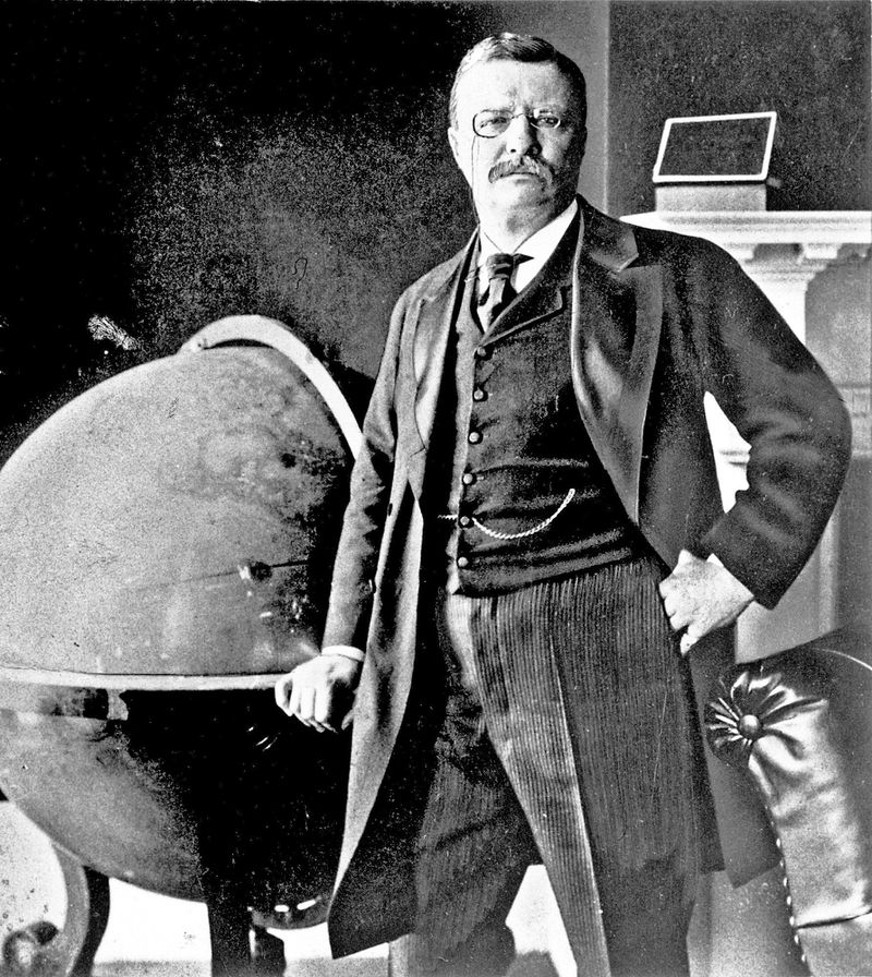 Theodore Roosevelt as a larger than life figure who is regarded as among the greatest of American Presidents.