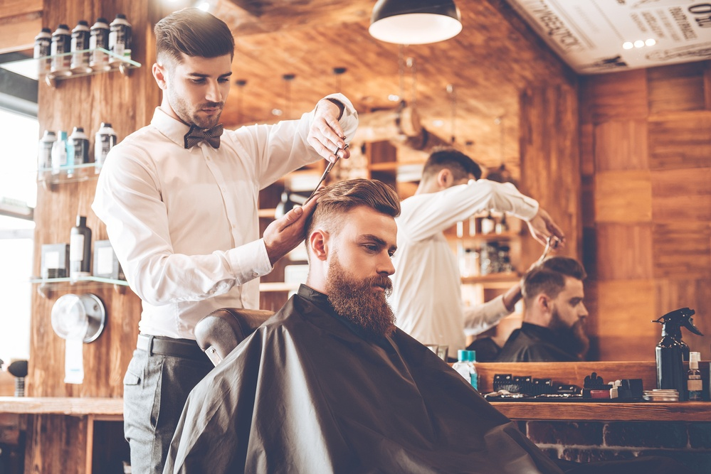 It is usually best for a man to go to a barber for his haircuts, as barbers specialize in the cutting of men hairstyles.